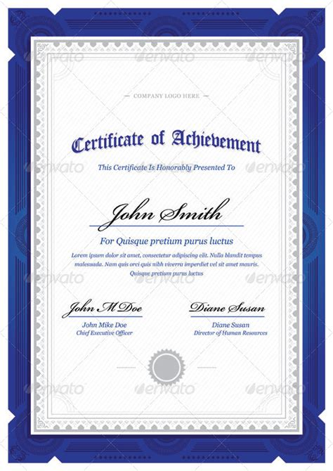 modern classy diploma award certificate  bnrcreativelab