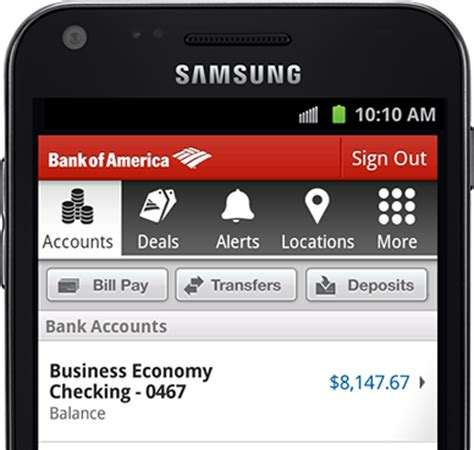 mobile banking app from bank of america small business
