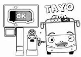 Tayo Coloring Attack Powerpuff sketch template