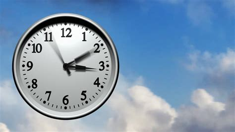 Animated Wall Clock Wallpaper - 3d animation of a wall clock running fast through 24