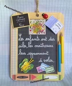 Cadeau Pour Maitresse D École : ardoise les couleurs de l 39 cole cadeau ma tresse ~ Melissatoandfro.com Idées de Décoration