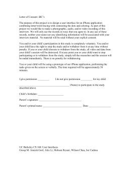 informed consent form sample  department