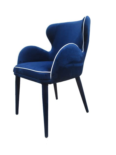 modrest tigard modern blue fabric dining chair dining