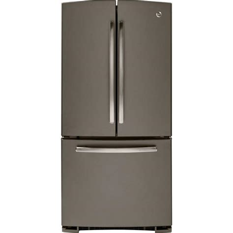 Counter Depth Refrigerator Height 67 by Ge 33 In W 22 7 Cu Ft Door Refrigerator In Slate