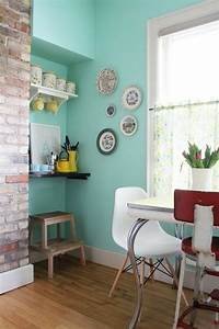 30 color ideas for wall paint in turquoise fresh design With kitchen colors with white cabinets with breakfast at tiffany s wall art