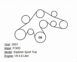 2007 Ford Explorer Sport Trac V8 4 6l Serpentine Belt