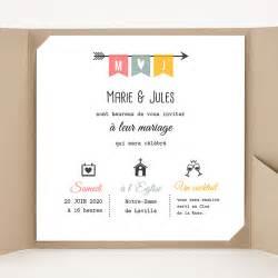 faire parts de mariage faire part mariage pochette carré flèche de cupidon carteland