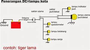 Skema Lampu Sepeda Motor Berbagai Tipe