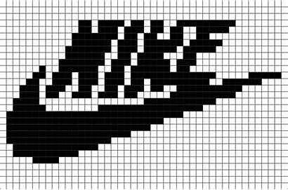 Pixel Nike Dessin Grid Pixelart Brikbook Apparel