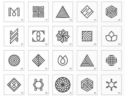 Abstract Minimalist Geometric Shapes by 15 Minimalist Logo Designs Psd Vector Eps Format