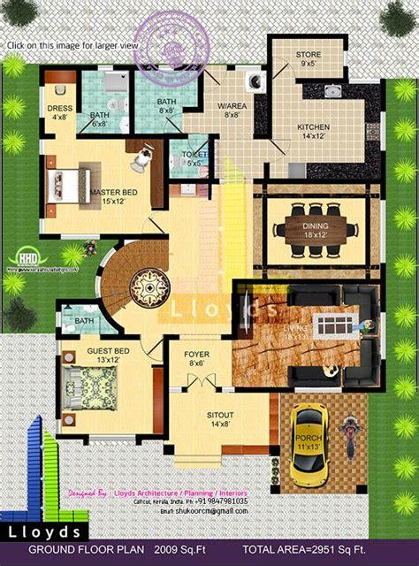 sqft  bedroom bungalow floor plan   view kerala home design  floor plans