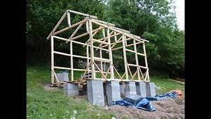 Construire Sa Cabane : construction d 39 une cabane en bois youtube ~ Melissatoandfro.com Idées de Décoration
