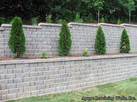 terraced retaining wall agape retaining walls inc terrace photo album 2