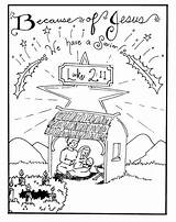 Nativity Coloring Pages Printable Scene Christmas sketch template