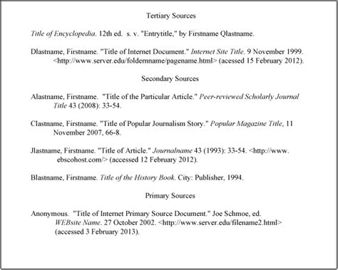 turabian format template citations and bibliographies