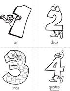 Numbers- French Book - Twisty Noodle