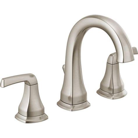 delta portwood   widespread  handle bathroom faucet