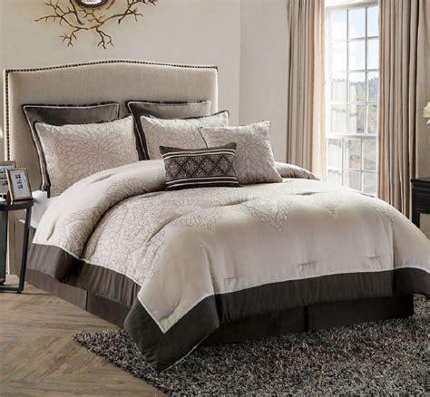 size comforter bed in a bag comforter set king size bedroom bedding brown