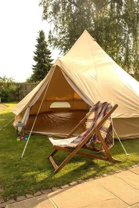 100 cotton canvas 4m bell tent zipped in ground sheet by bell tent boutique 745742977929 ebay