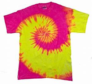 Regular T Shirt Size Chart Tie Dye T Shirt Fluorescent Swirl Yellow Pink Swirl