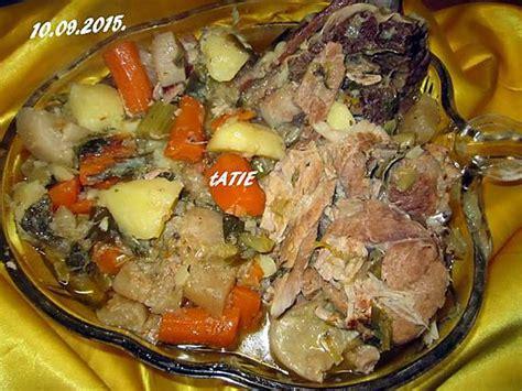 pot au feu porc recette de pot au feu rouelle de porc