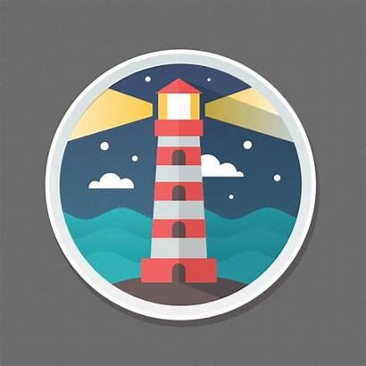 Flat Icon Illustrator Designer Graphic Affinity Lighthouse