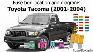 Fuse Box Location And Diagrams  Toyota Tacoma  2001-2004