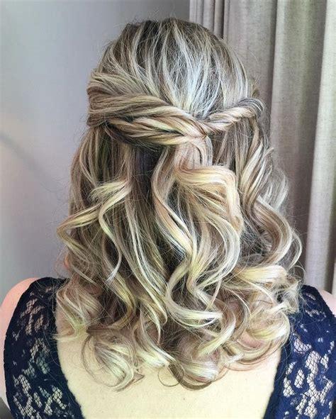 Wavy Half Updo Hairstyles by Partial Updo Wavy Wedding Hairstyle Half Up Half