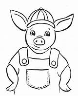 Pig Coloring sketch template
