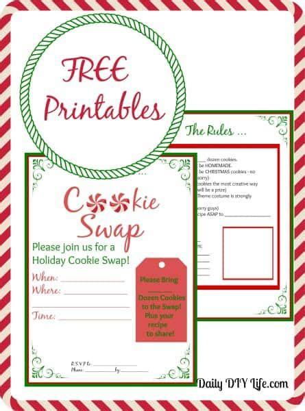 cookie exchange rules cookie planning free printables