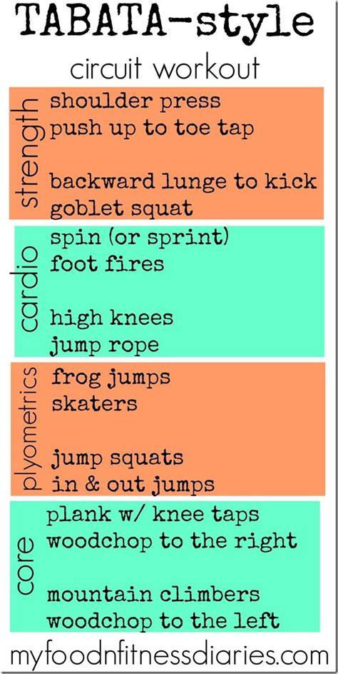 Tabata Circuit Training Style Workout