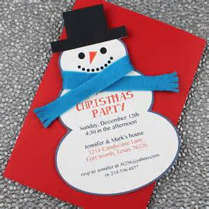 snowman christmas party invitation template download print