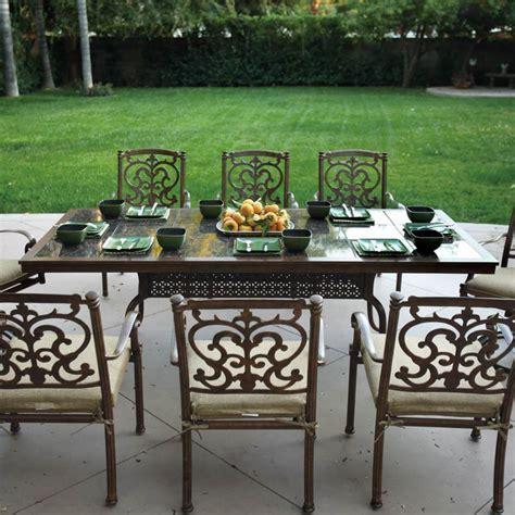 patio table set darlee santa barbara 9 cast aluminum patio dining