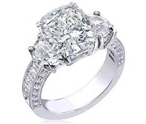 large engagement rings half moon engagement rings from mdc diamonds nyc