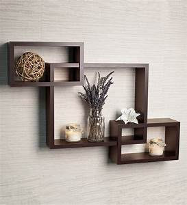 Buy, Set, Of, 3, Engineered, Wood, Intersecting, Wall, Shelf, By, Driftingwood, Online
