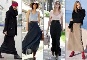 How to Wear and What to Wear with Long Skirts ...