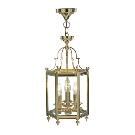 brass ceiling lantern traditional period home lighting