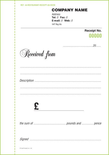 receipt book template free receipt books templates custom receipt books only 163 60