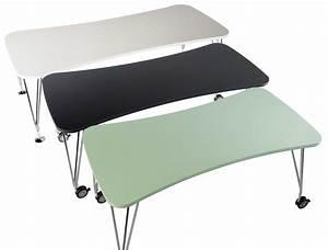 Bureau Sur Roulette : table max bureau roulettes l 160 cm blanc kartell ~ Teatrodelosmanantiales.com Idées de Décoration
