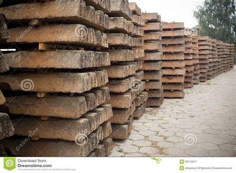 Wooden Sleepers by Wooden Sleepers Royalty Free Stock Photography Image
