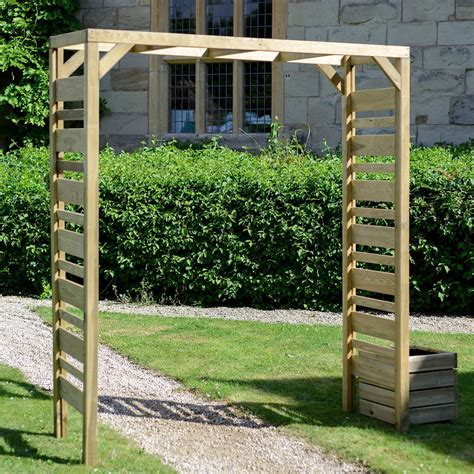 diy garden arch grange fencing european softwood square top garden