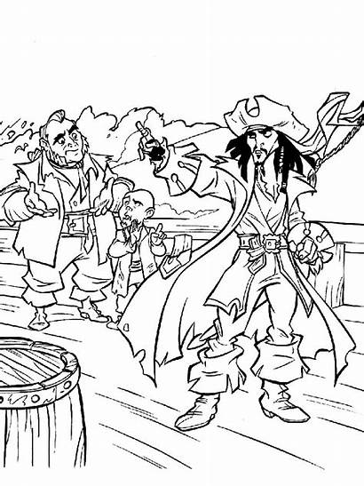 Coloring Pirates Caribbean Pages Cartoon Recommended Mycoloring