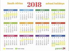 Printable 2018 SA school holiday calendar Parent24
