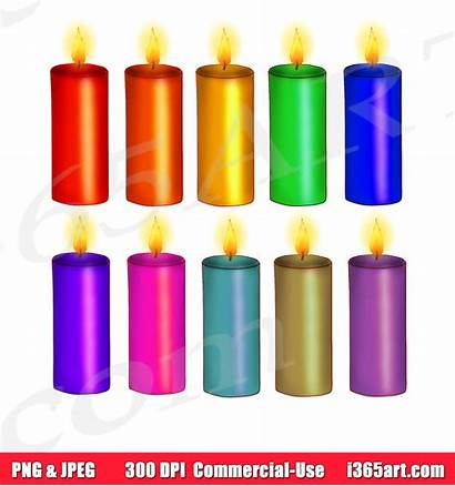 Candle Clipart Candles Birthday Scrapbooking Commercial Invitations