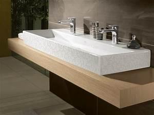 Plan Vasque Bois Brut : meuble double vasque de design moderne en 60 exemples ~ Teatrodelosmanantiales.com Idées de Décoration