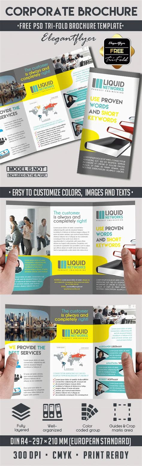 Tri Fold Brochure Templates Free By Elegantflyer Free Corporate Tri Fold Brochure Template By Elegantflyer