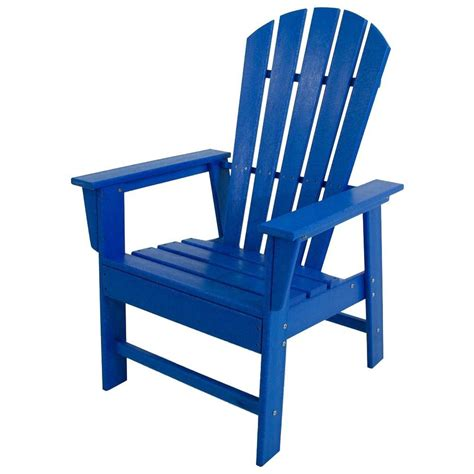 polywood south pacific blue patio dining chair