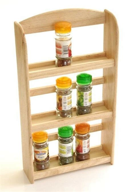 Timber Spice Rack by New 3 Tier Hevea Wood Wooden Herb Spice Rack Jar Holder