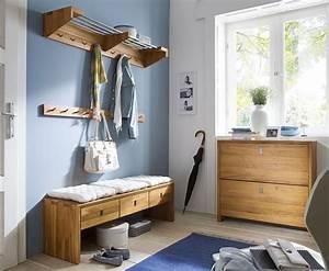 Moderne Garderobe Mit Bank : massivholz garderoben set dielenm bel 4 teile wildeiche massiv holz ~ Bigdaddyawards.com Haus und Dekorationen