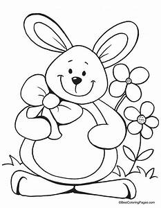 Happy Easter Coloring Sign - Coloring Home